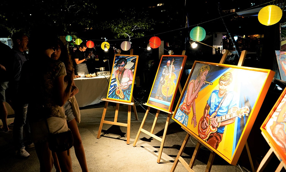 Magazine Chic - Artistes exposant lors d'une Art Party